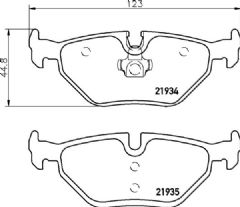 Brake pads rear 276x19mm vented